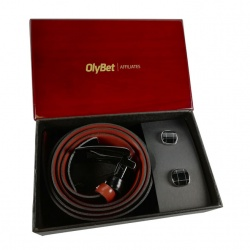 Olybet Business Gift - Mens Belt with Embossing