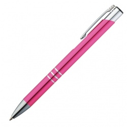 Logotrade promotional product image of: Metal ball pen 'Ascot'  color pink