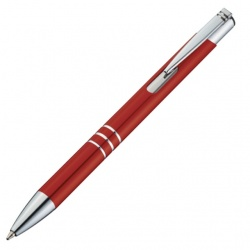 Logotrade advertising products photo of: Metal ball pen 'Ascot'  color red