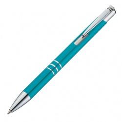 Logo trade promotional products picture of: Metal ball pen 'Ascot', blue