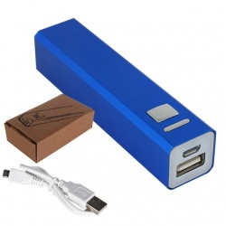 Logotrade promotional products photo of: Power bank Metal 2200mAh blue, Blue