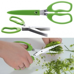 Logo trade promotional gift photo of: Chive scissors 'Bilbao'  color light green