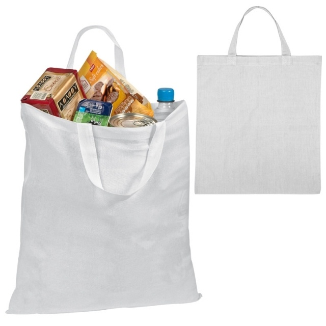 Logo trade promotional products picture of: Cotton bag MONZA  color white