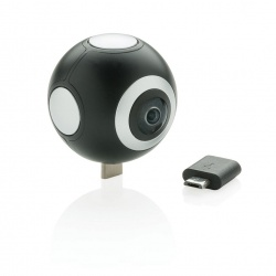 Logotrade promotional gift picture of: Dual lens 360° photo and video camera