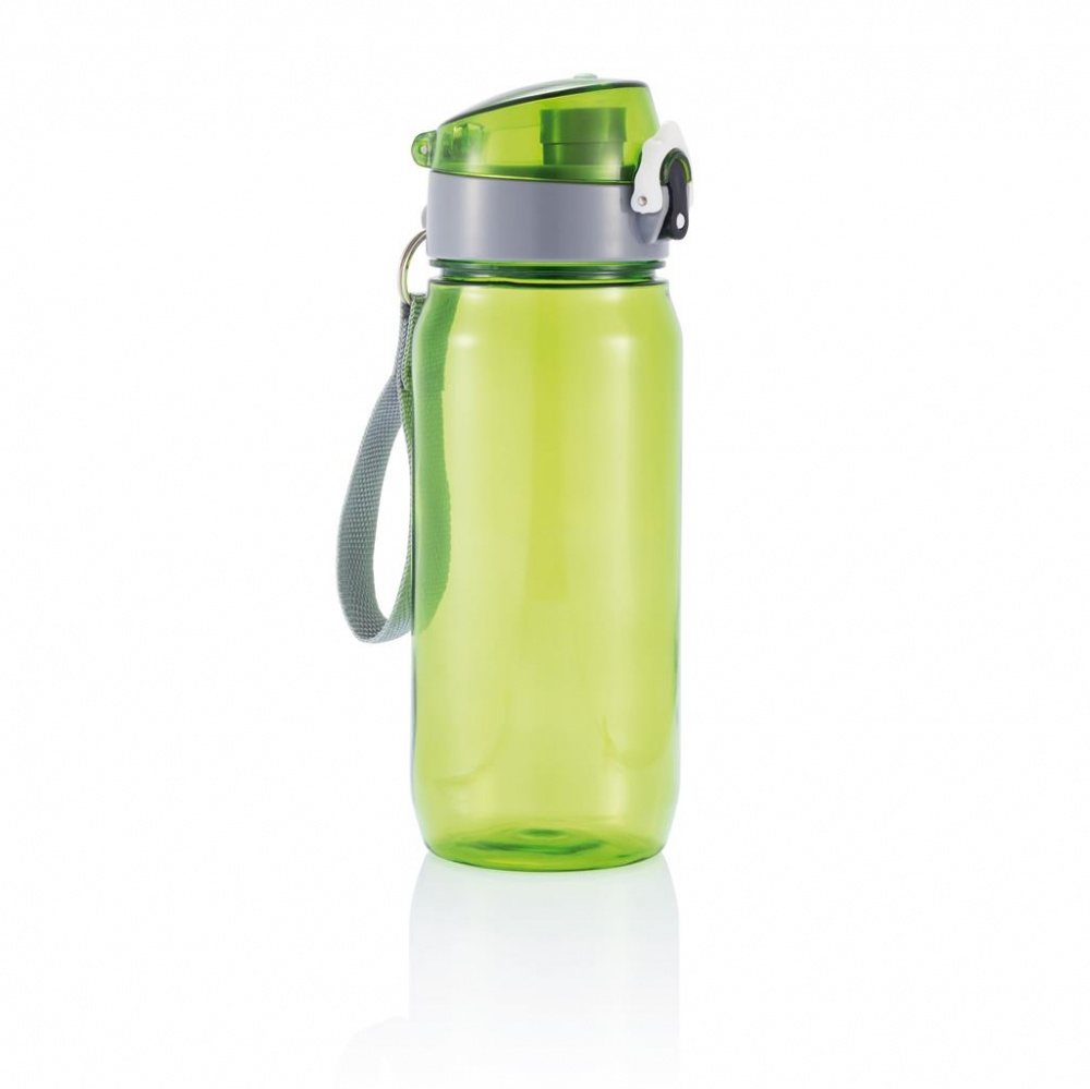 Logo trade advertising products image of: Tritan bottle, green/grey