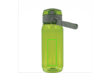 Logotrade promotional item picture of: Tritan bottle, green/grey