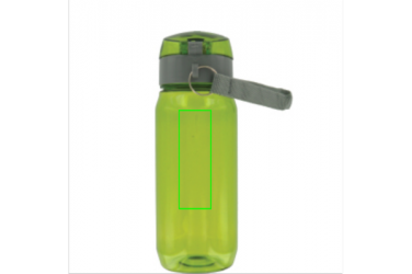 Logotrade advertising products photo of: Tritan bottle, green/grey