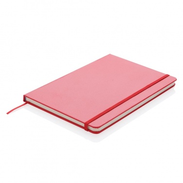 Logotrade promotional item image of: A5 Notebook & LED bookmark, red
