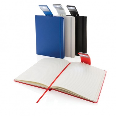 Logotrade corporate gift picture of: A5 Notebook & LED bookmark, red