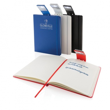 Logo trade promotional gifts picture of: A5 Notebook & LED bookmark, red