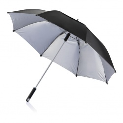 "Logotrade promotional giveaway picture of: 1. 27"" or 120 cm Hurricane storm umbrella, black"