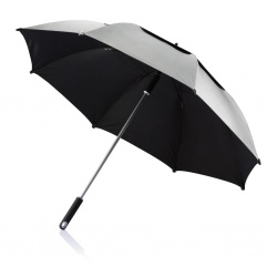 "Logo trade promotional products picture of: 27"" Hurricane storm umbrella, grey"