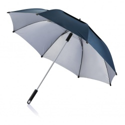 Logo trade promotional giveaway photo of: Umbrella 120 cm Hurricane storm protection, blue