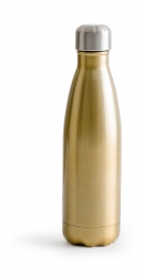 Logotrade promotional product picture of: Steel water bottle, gold-coloured