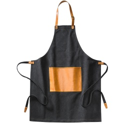 Logo trade promotional gifts picture of: Asado Apron Black