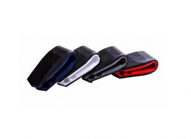 "Logo trade promotional merchandise photo of: Mobile phone holder ""Jaws"", red"