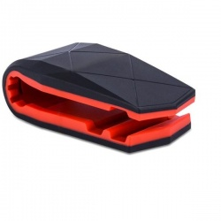 "Logo trade promotional giveaways image of: Mobile phone holder ""Jaws"", red"