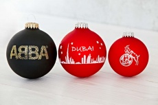 Christmas ball with 1 color logo 6 cm