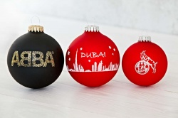 Logo trade promotional merchandise photo of: Christmas ball with 1 color logo 6 cm