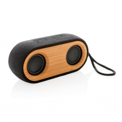 Logotrade promotional merchandise image of: Bamboo X double speaker, black
