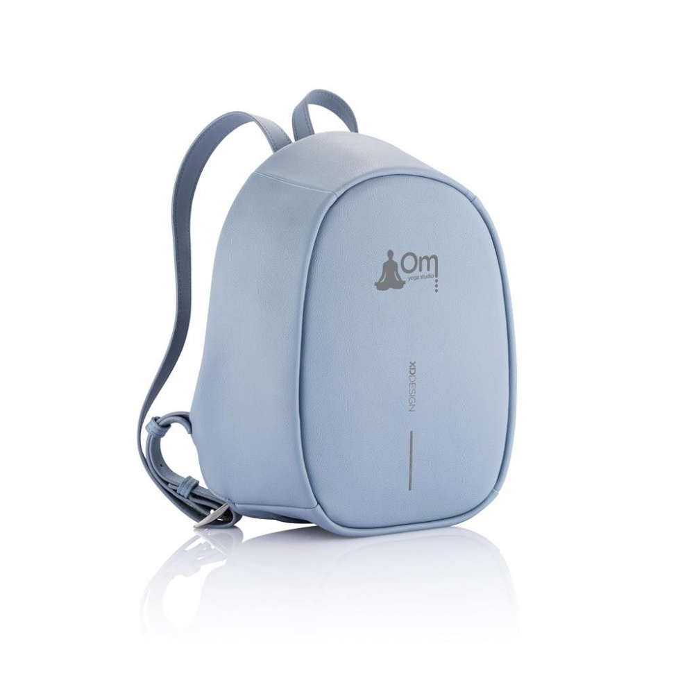 Logo trade promotional items image of: Special offer: Bobby Elle anti-theft backpack, light blue