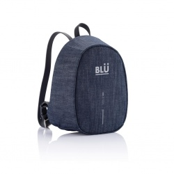 Logo trade promotional giveaway photo of: Special offer: Bobby Elle anti-theft backpack, blue