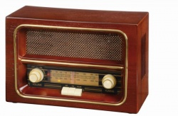 Logo trade promotional products image of: AM/FM radio RECEIVER, brown