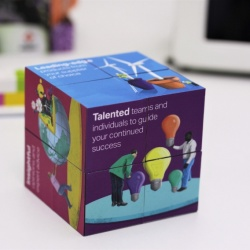 Logo trade corporate gifts image of: Magic Cube, 7 cm