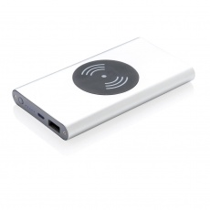 4.000 mAh 5W wireless charging powerbank, silver