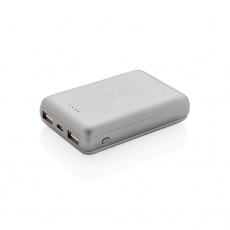 5.000 mAh Wireless 5W Pocket Powerbank, silver