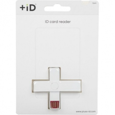 Logo trade promotional product photo of: +ID smart card reader, USB, white