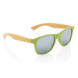 Logotrade promotional merchandise picture of: Wheat straw and bamboo sunglasses, green