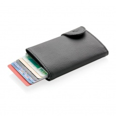 C-Secure RFID card holder & wallet black with name, sleeve, gift wrap