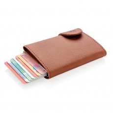 C-Secure RFID card holder & wallet brown with name, sleeve, gift wrap