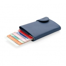 C-Secure RFID card holder & wallet navy with name, sleeve, gift wrap