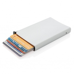 Logotrade promotional giveaway picture of: Standard aluminium RFID cardholder, silver