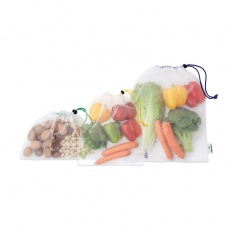 3-pieces mesh RPET grocery bag set
