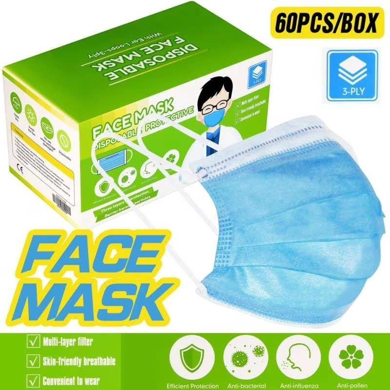 Logo trade business gifts image of: Medical mask, 3-layer, disposable