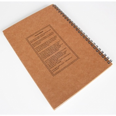 Logo trade mainostuote kuva: A5 ECO Notepad 'Kentwood'  color brown